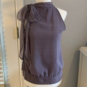Purple Polka Dot Banana Republic Blouse